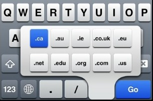 International TLD's visible in iOS keyboard of Safari