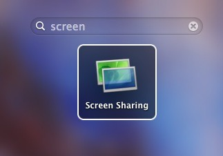 Screen Sharing app shortcut made in Mac OS X