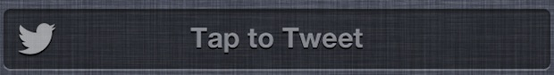 Tap to Tweet button in Notification Center of iOS