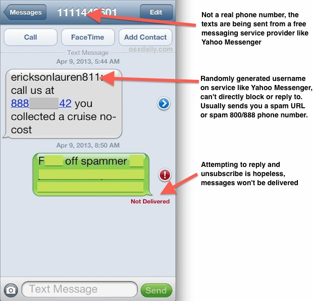 how to block text messages on iphone how to block spam text messages on the iphone or any phone 19861