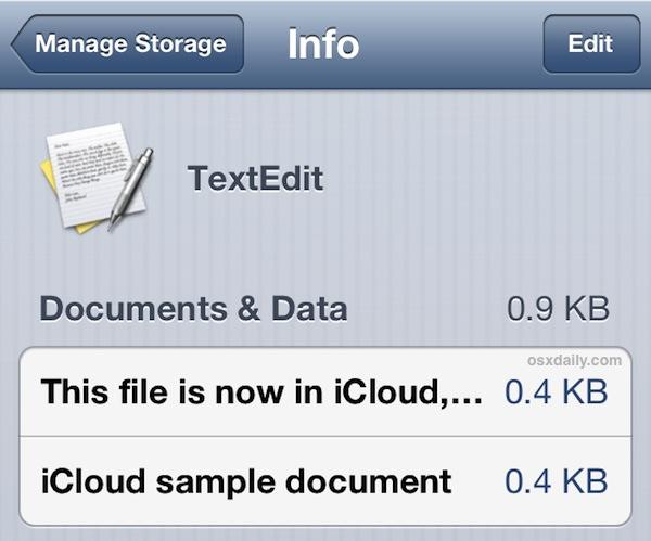View iCloud documents in iOS