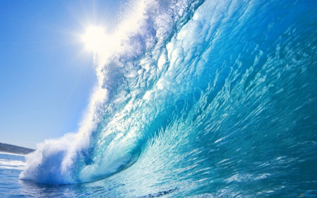 Big blue wave wallpaper