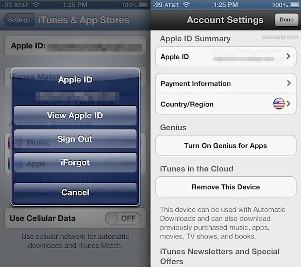 Change the Apple ID Country association for iTunes and App Store