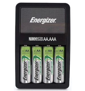 Change batteries with rechargeables