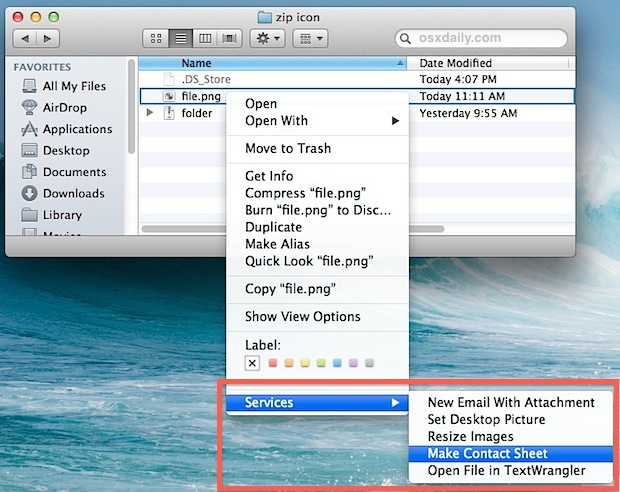 Clean up the Services contextual menu in Mac OS X