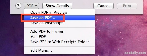 Create a secure PDF in Mac OS X