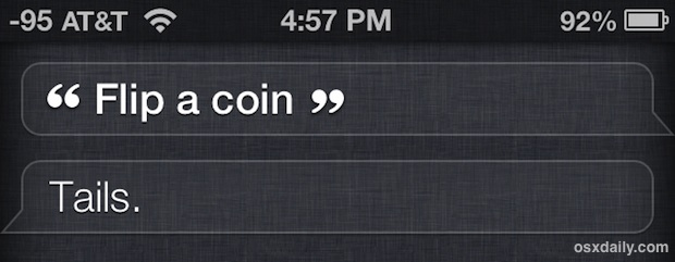 Flip a coin with Siri for tough decisions