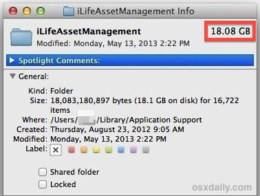 iLifeAssetManagement bloated folder of duplicate images