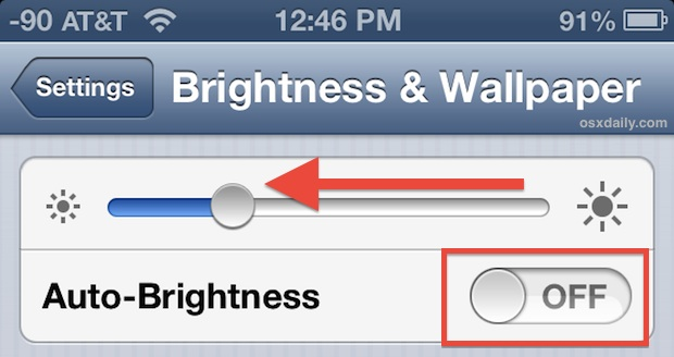 Lower brightness and turn off auto adjust