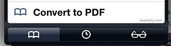 "Use the ""Convert to PDF"" in iPad Safari"