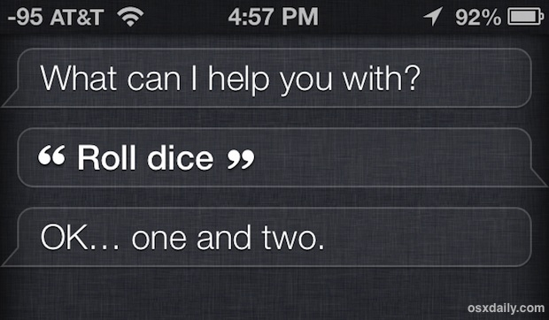 Roll dice with Siri