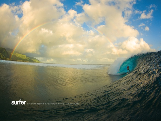 Teahupoo rainbow wallpaper