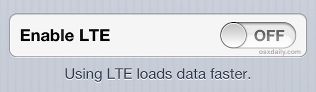 Turn LTE off