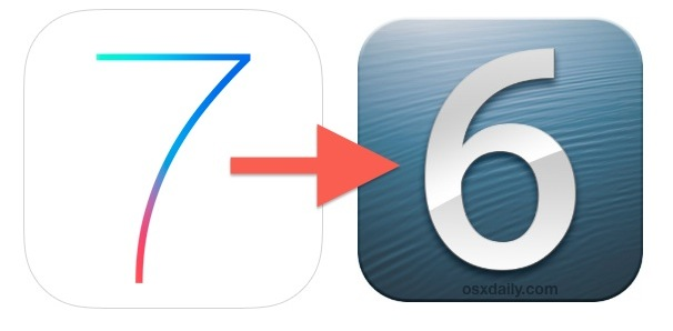 Downgrade iOS 7 to iOS 6