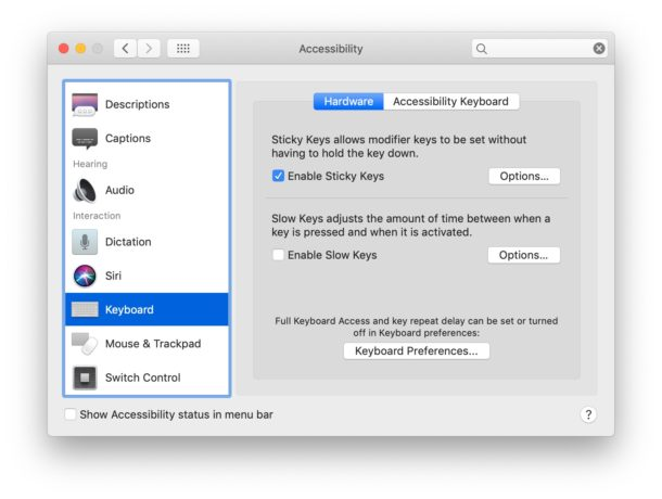 Enabling modifier keys sticky keys for Mac is helpful for the virtual keyboard
