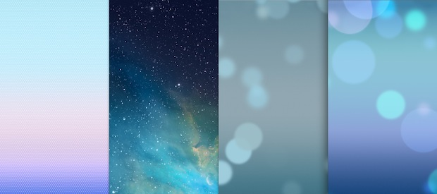 iOS 7 default wallpapers
