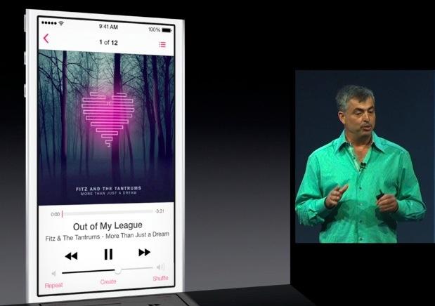 iOS 7 music app