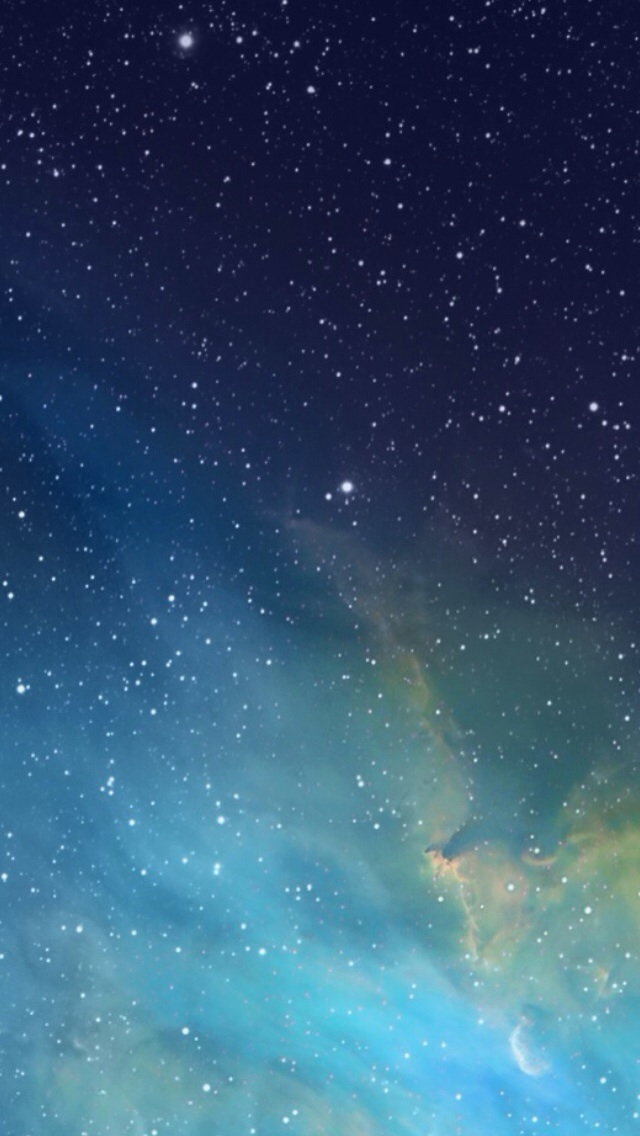 iOS 7 galaxy wallpaper