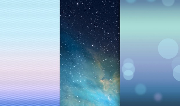 Grab The Ios 7 Default Wallpapers For Iphone Ipod Touch Osxdaily