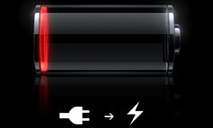 iPhone battery dead indicator