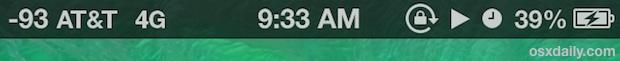 iPhone status bar icons and symbols