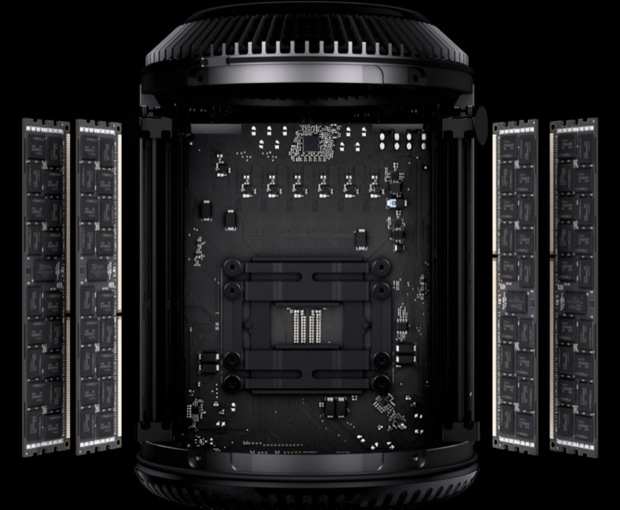 New Mac Pro opened