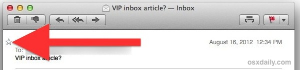 Mark a sender as VIP to emphasize their email