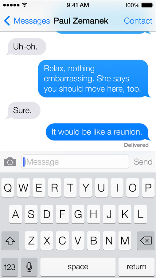Messages in iOS 7