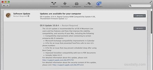 OS X 10.8.4 Update