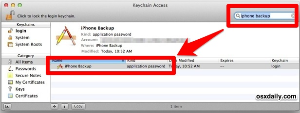 Recover a lost iPhone encrypted backup password