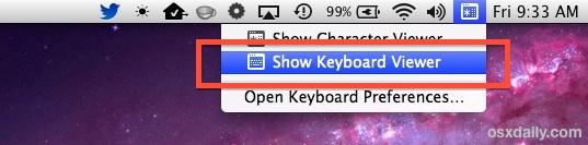 Show the virtual keyboard on a Mac