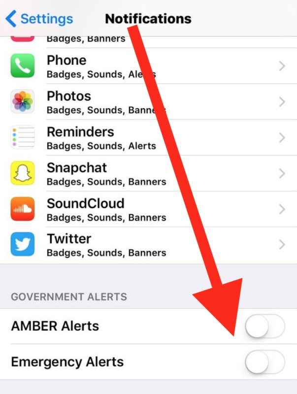How to turn off emergency alerts on iPhone