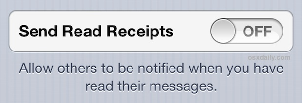 Turn off Read receipts on the iPhone messaging app