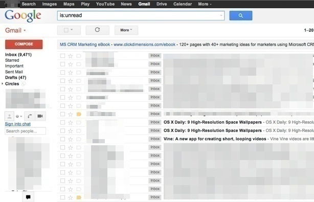 View unread email only in Gmail