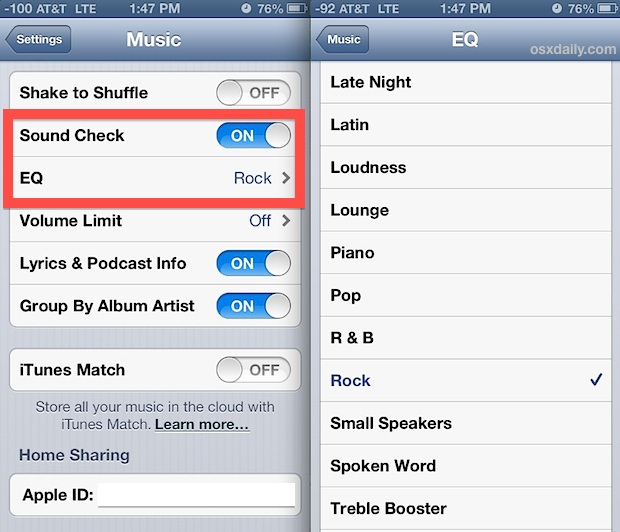 Better music playback and listening in iOS