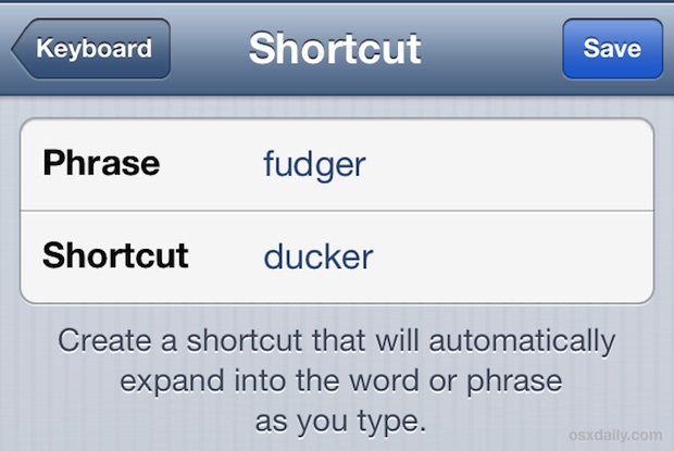 Ducking Autocorrect fix