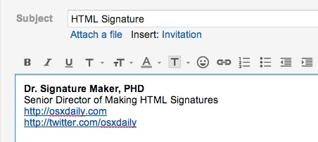 Make an HTML Signature with GMail