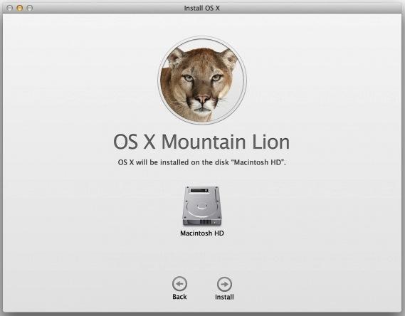 OS X Installer screen