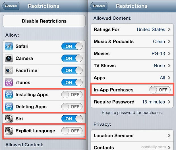 parental control on iphone how to use restrictions as parental controls on an iphone 3095
