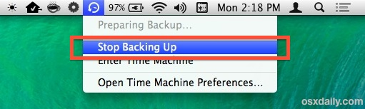 Stop Backups of Time Machine when performance is essential
