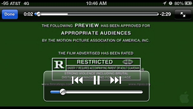 Watch movie trailers with Siri