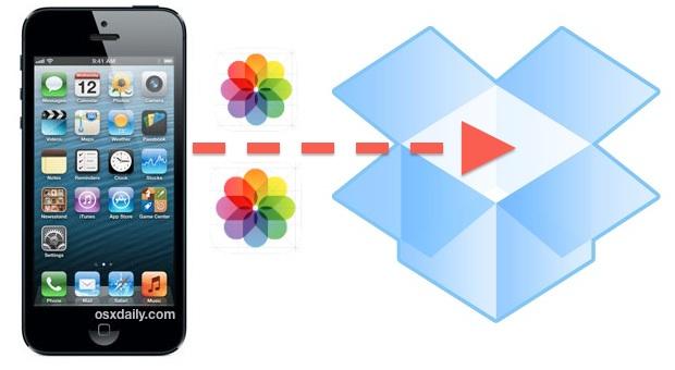 Back up iPhone photos to Dropbox