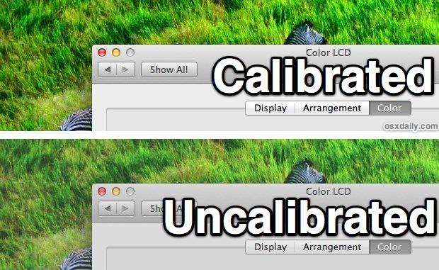 Calibrate the MacBook Air screen to make it look better