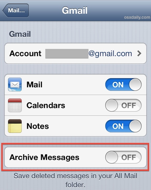 Enable a Delete Mail button in iOS