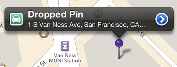 Drop a pin at parking garage with the iPhone maps
