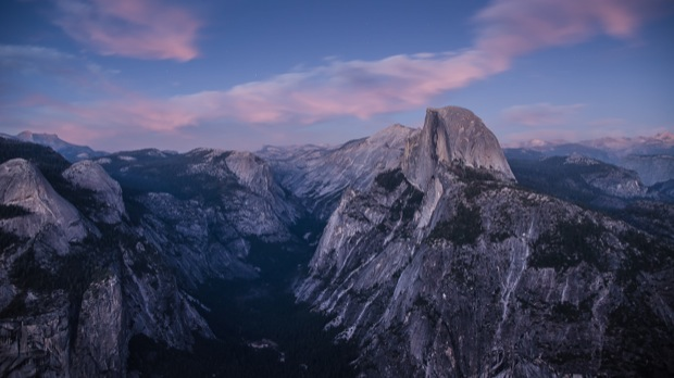 Half dome at dusk wallpaper
