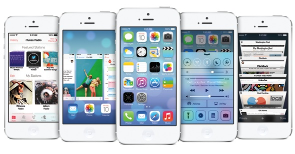 iOS 7 with iPhone 5
