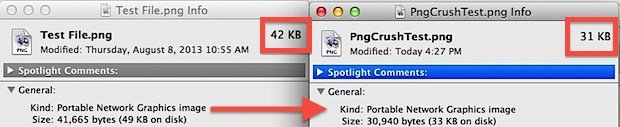 pngcrush command line in Mac OS X reduces image sizes