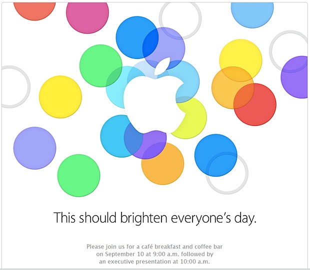 Apple invite for September 10