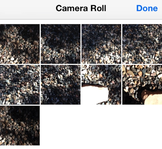 Burst photos grouped together in Camera Roll